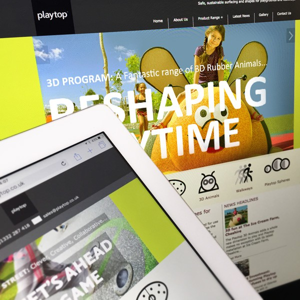 Playtop Safer Surfacing Mobile Responsive Website