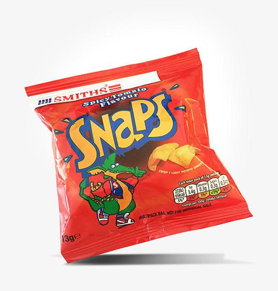 Walkers Smith Snaps Crisps Pack Design