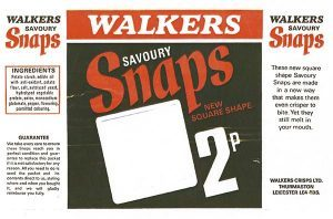 Walkers Snaps Original Packaging